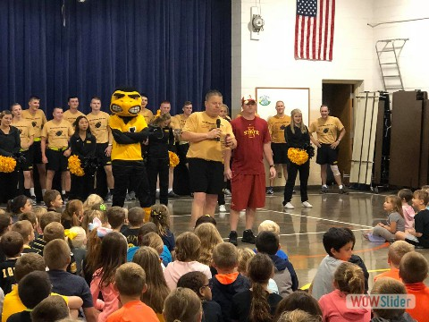 Iowa - Iowa State Game Ball Run