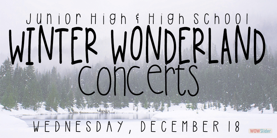 Join us for a Winter Wonderland Experience!